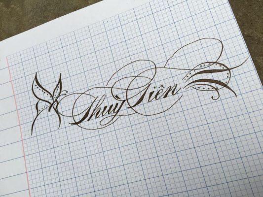 mau chu viet tay dep 8 533x400 - Bộ sưu tập chữ viết tay, chữ viết hoa sáng tạo, chữ nghệ thuật đẹp
