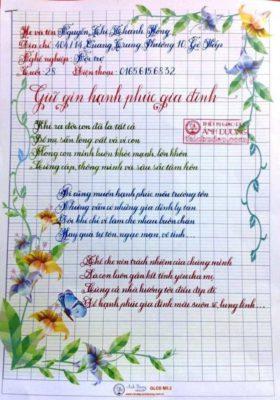 bai thi luyen chu dep 2 280x400 - Giấy hoa viết chữ sáng tạo, chữ nghệ thuật