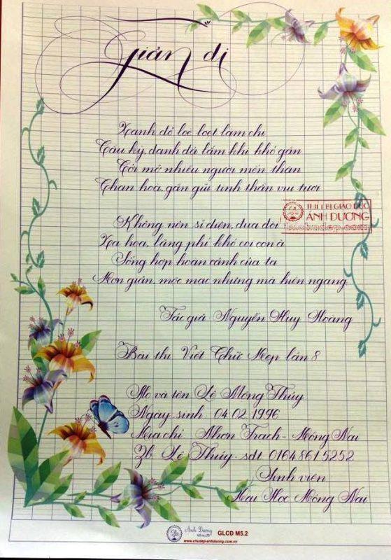 bai thi viet chu dep 21 1 559x800 - Các bài thi viết chữ đẹp của giáo viên, sinh viên ngành sư phạm