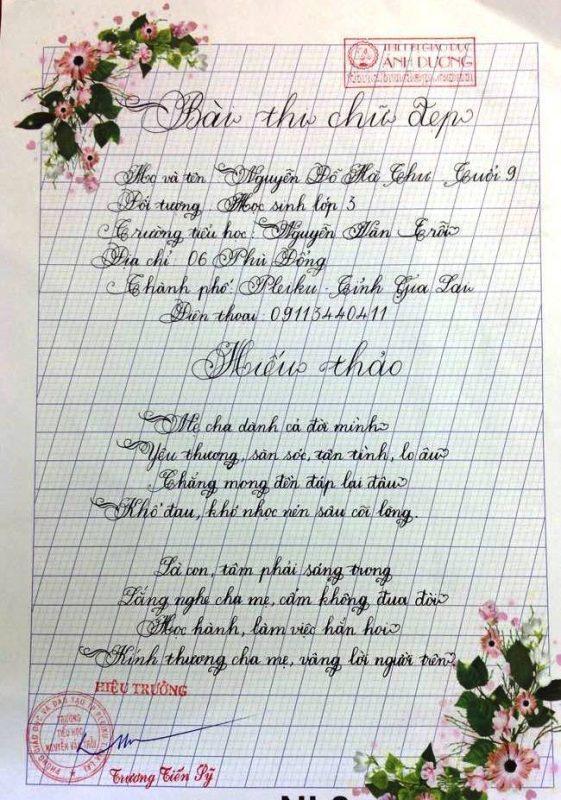 bai thi viet chu dep 22 561x800 - Các bài thi viết chữ đẹp của học sinh tiểu học