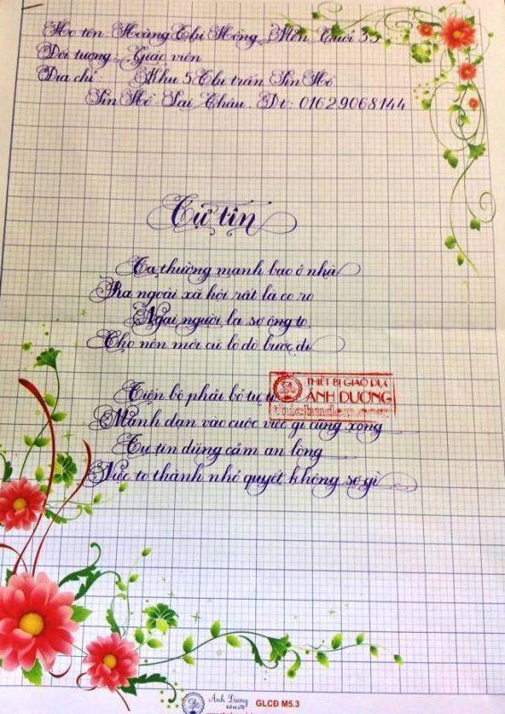 bai thi viet chu dep 24 1 566x800 - Các bài thi viết chữ đẹp của giáo viên, sinh viên ngành sư phạm