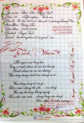 bai thi viet chu dep 25 1 273x400 - Giấy hoa viết chữ sáng tạo, chữ nghệ thuật