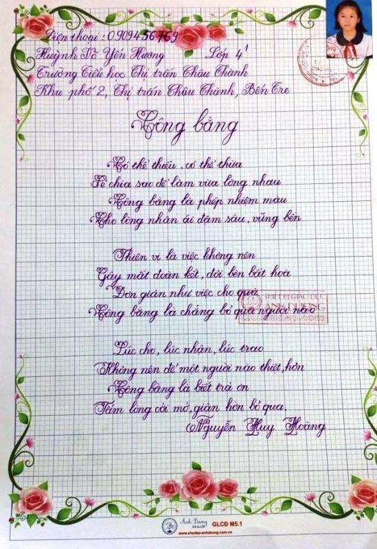 bai thi viet chu dep 31 549x800 - Các bài thi viết chữ đẹp của học sinh tiểu học