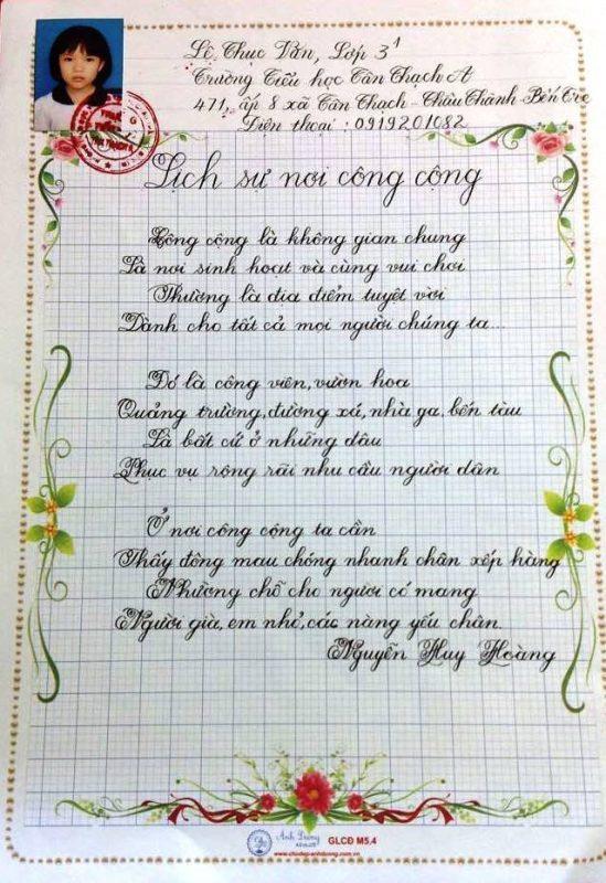 bai thi viet chu dep 35 549x800 - Các bài thi viết chữ đẹp của học sinh tiểu học