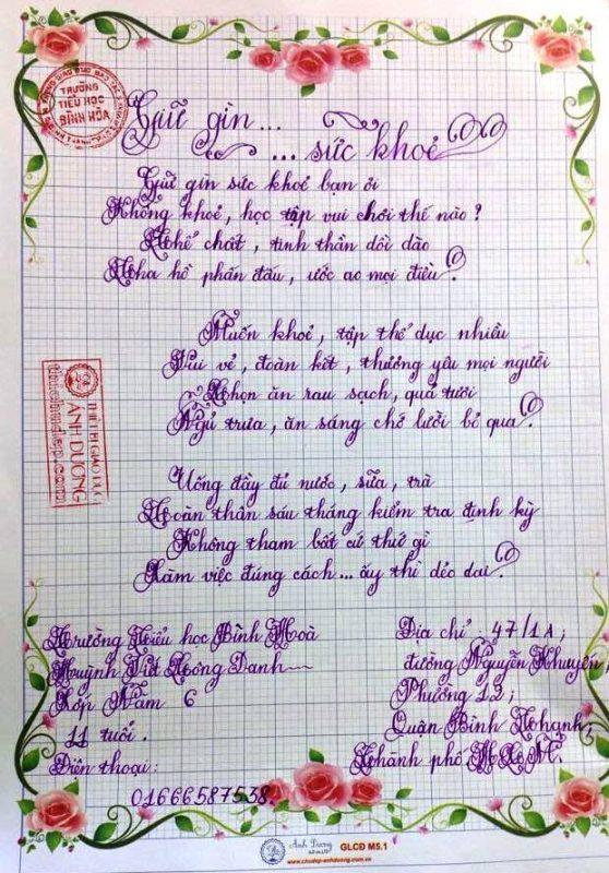 bai thi viet chu dep 4 558x800 - Các bài thi viết chữ đẹp của học sinh tiểu học