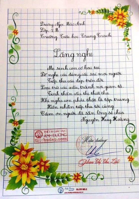 bai thi viet chu dep 41 560x800 - Các bài thi viết chữ đẹp của học sinh tiểu học