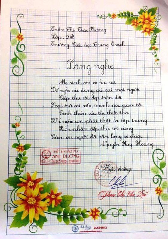 bai thi viet chu dep 48 563x800 - Các bài thi viết chữ đẹp của học sinh tiểu học