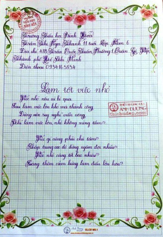 bai thi viet chu dep 49 550x800 - Các bài thi viết chữ đẹp của học sinh tiểu học