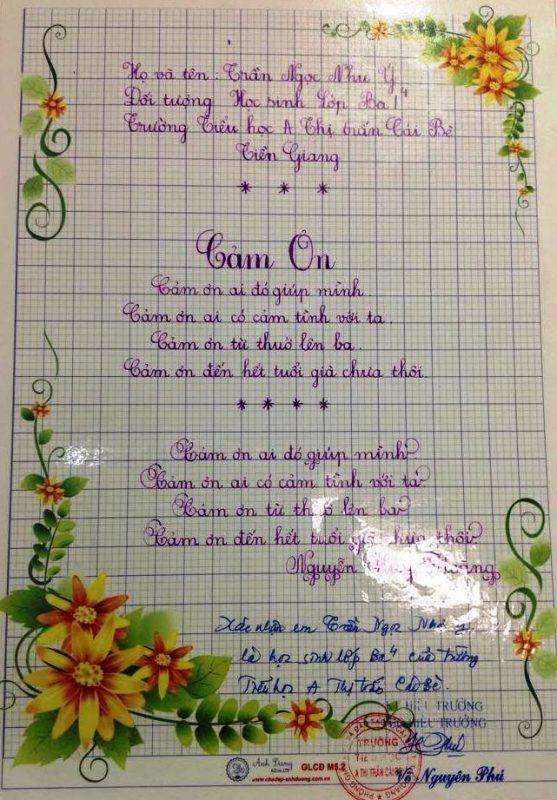 bai thi viet chu dep 52 557x800 - Các bài thi viết chữ đẹp của học sinh tiểu học