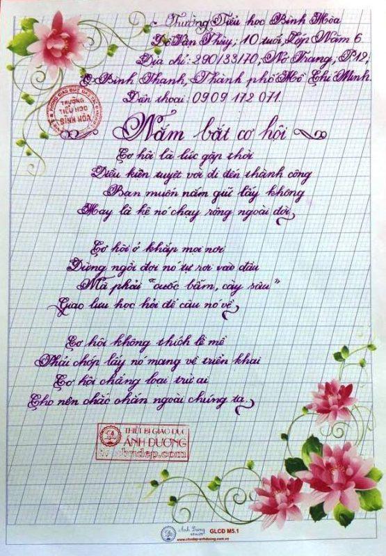 bai thi viet chu dep 8 555x800 - Các bài thi viết chữ đẹp của học sinh tiểu học