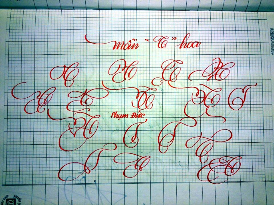 chu cach dieu 4 - Mẫu chữ cách điệu, chữ hoa sáng tạo, chữ nghệ thuật trong luyện chữ đẹp
