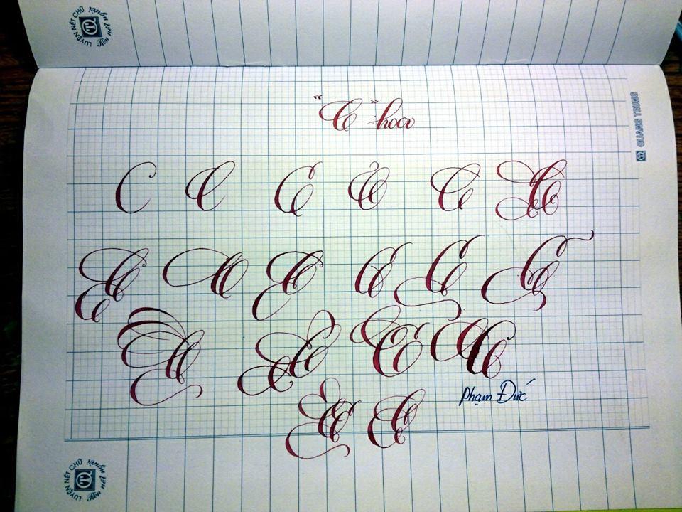chu cach dieu 5 - Mẫu chữ cách điệu, chữ hoa sáng tạo, chữ nghệ thuật trong luyện chữ đẹp