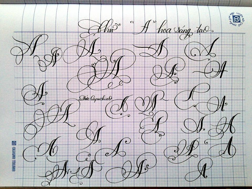chu cach dieu 7 - Mẫu chữ cách điệu, chữ hoa sáng tạo, chữ nghệ thuật trong luyện chữ đẹp