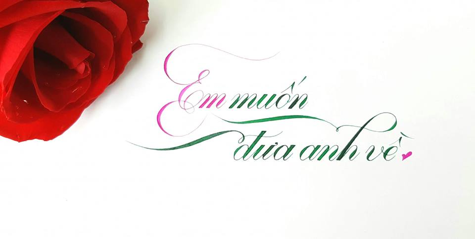 chu cach dieu dep 10 - Mẫu chữ cách điệu, chữ hoa sáng tạo, chữ nghệ thuật trong luyện chữ đẹp