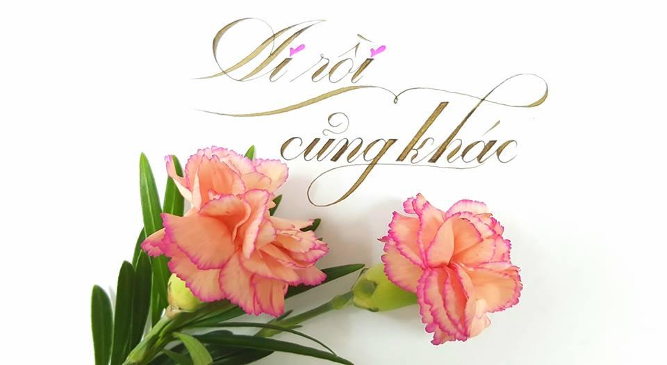 chu cach dieu dep 6 - Mẫu chữ cách điệu, chữ hoa sáng tạo, chữ nghệ thuật trong luyện chữ đẹp