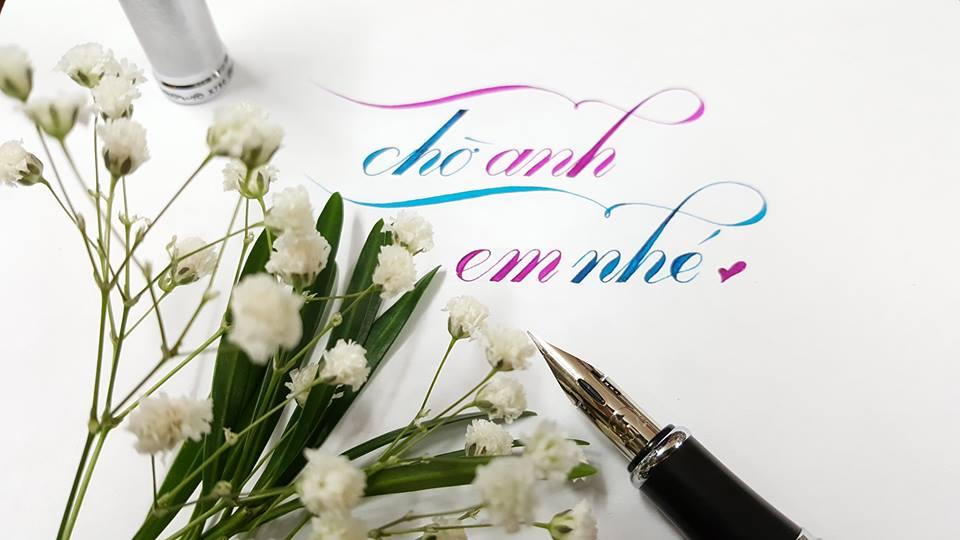 chu hoa sang tao 3 - Mẫu chữ cách điệu, chữ hoa sáng tạo, chữ nghệ thuật trong luyện chữ đẹp
