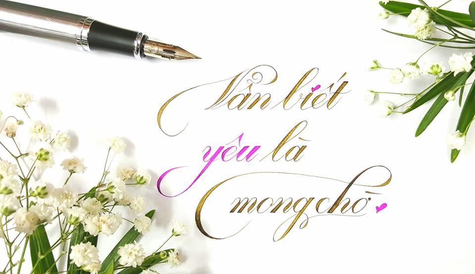 chu hoa sang tao 4 - Mẫu chữ cách điệu, chữ hoa sáng tạo, chữ nghệ thuật trong luyện chữ đẹp