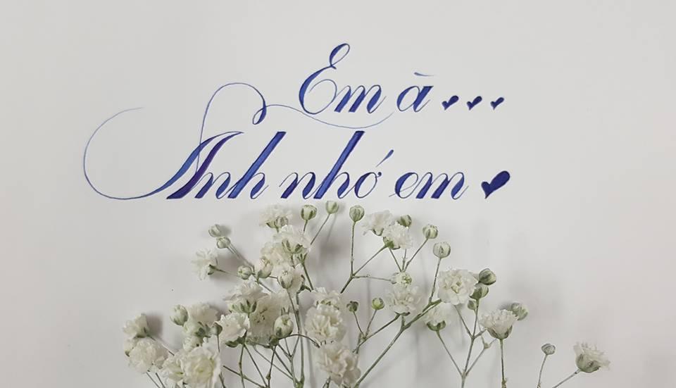 chu hoa sang tao 6 - Mẫu chữ cách điệu, chữ hoa sáng tạo, chữ nghệ thuật trong luyện chữ đẹp
