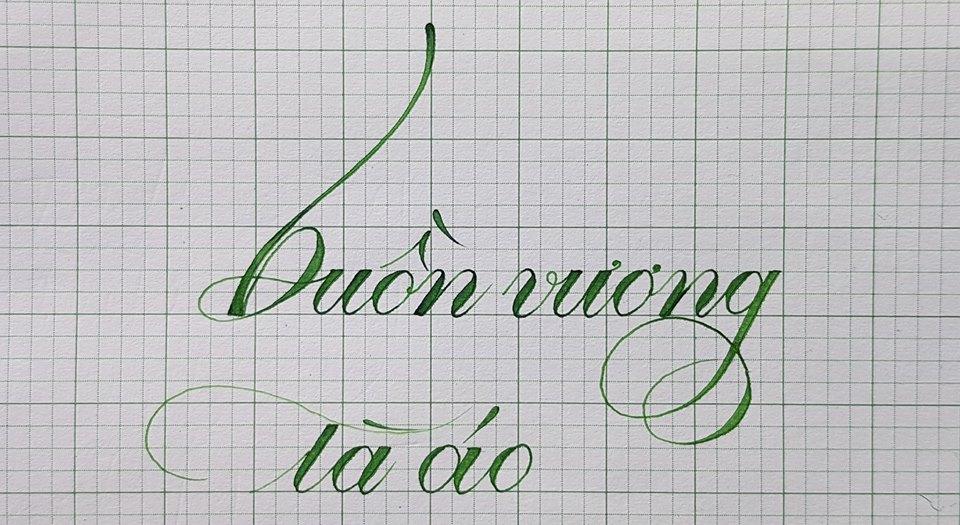 chu hoa sang tao 7 - Mẫu chữ cách điệu, chữ hoa sáng tạo, chữ nghệ thuật trong luyện chữ đẹp