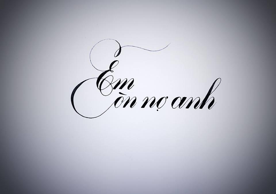 chu nghe thuat 7 - Mẫu chữ cách điệu, chữ hoa sáng tạo, chữ nghệ thuật trong luyện chữ đẹp