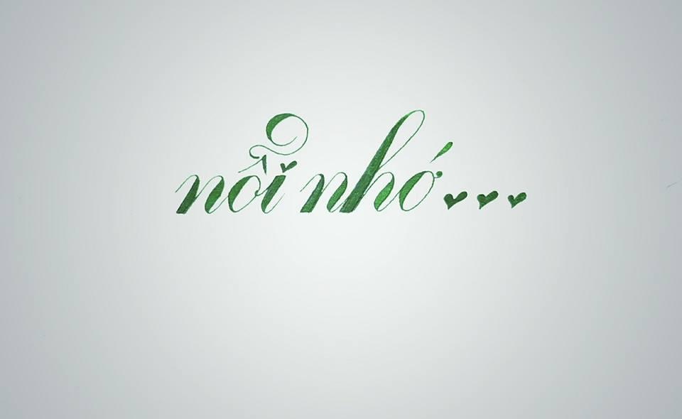 chu nghe thuat 9 - Mẫu chữ cách điệu, chữ hoa sáng tạo, chữ nghệ thuật trong luyện chữ đẹp
