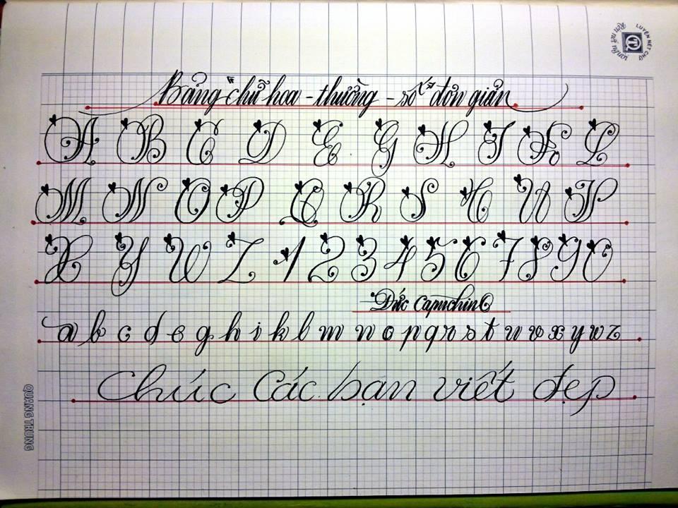 mẫu chữ đẹp đơn giản