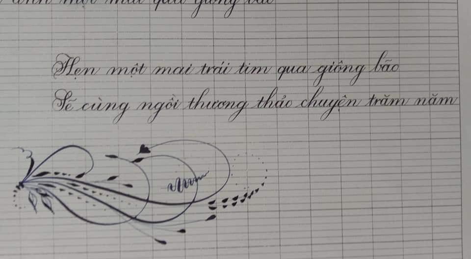 but la tre - Bút lá tre trong luyện chữ đẹp, chữ sáng tạo, chữ nghệ thuật, thi viết đẹp