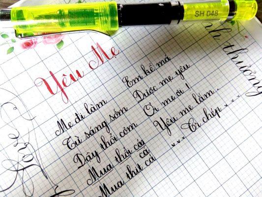 but mai thay anh sh 048 4 e1538970397726 533x400 - Bút mài thầy Ánh SH 048 Calligraphy