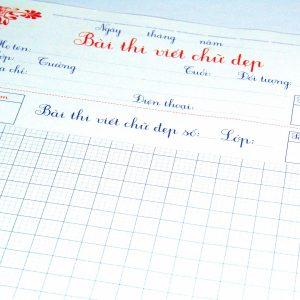 giấy thi viết chữ đẹp