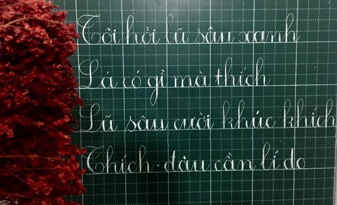 luyen viet chu dep 2 656x400 - Cách viết chữ đẹp qua mẫu chữ đẹp và phương pháp luyện viết chữ đẹp