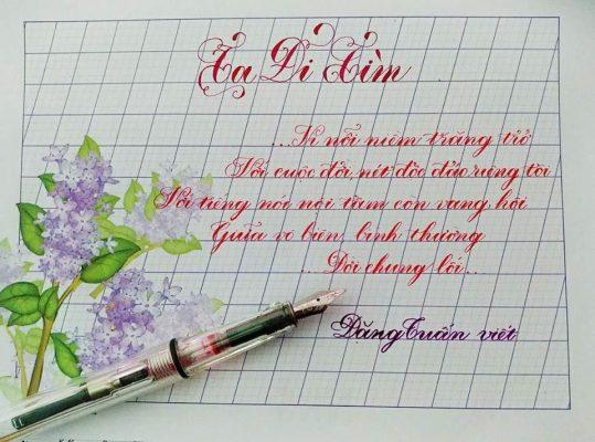 mau chu dep 539x400 - Cách viết chữ đẹp qua mẫu chữ đẹp và phương pháp luyện viết chữ đẹp