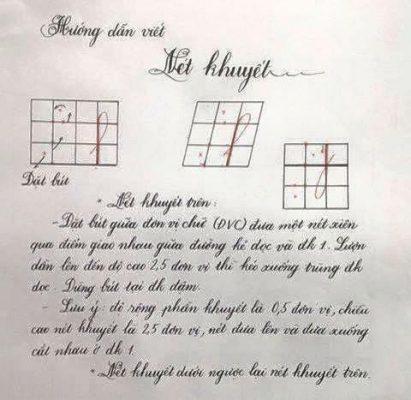 net khuyet 411x400 - Hướng dẫn viết các nét cơ bản đến phức tạp trong tiếng Việt