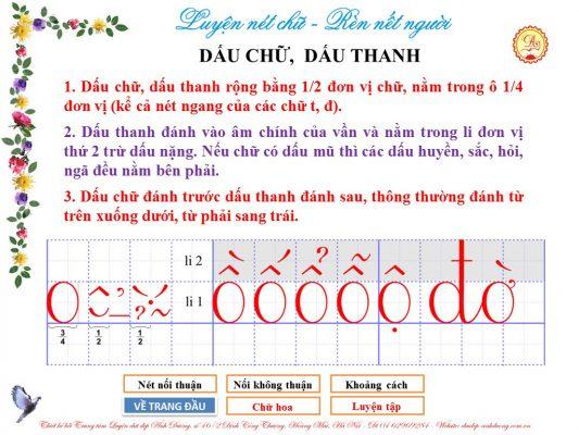 dau chu dau thanh 533x400 - Kỹ thuật nối chữ và đặt dấu thanh khi tập viết và luyện chữ đẹp