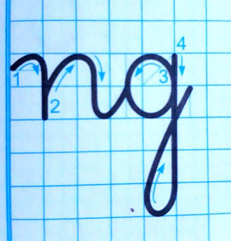 ky thuat noi chu 2 767x800 - Kỹ thuật nối chữ và đặt dấu thanh khi tập viết và luyện chữ đẹp