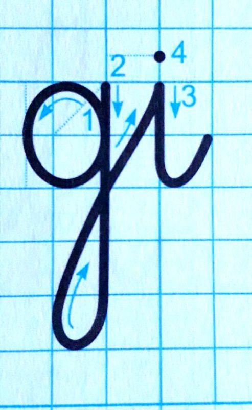ky thuat noi chu 6 493x800 - Kỹ thuật nối chữ và đặt dấu thanh khi tập viết và luyện chữ đẹp
