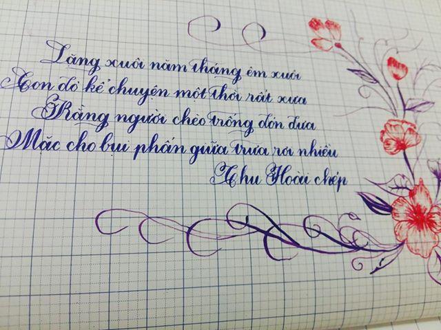 mau luyen viet chu 1 - Chiêm ngưỡng một số mẫu luyện viết chữ đẹp như in