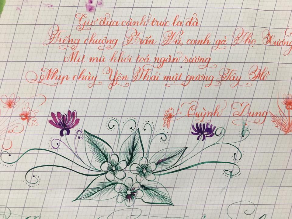 mau luyen viet chu - Chiêm ngưỡng một số mẫu luyện viết chữ đẹp như in