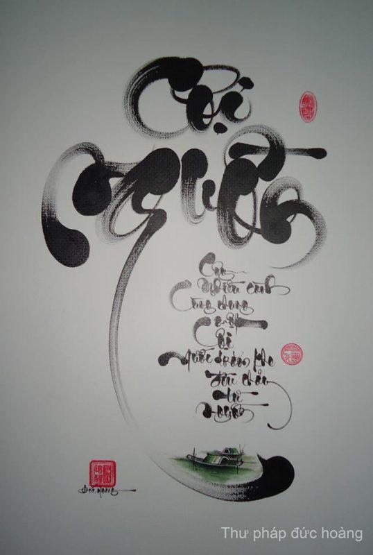 viết chữ thư pháp đẹp
