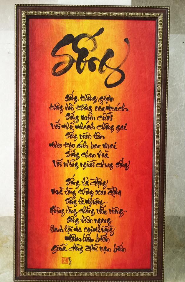 viet chu thu phap 3 - Nghệ thuật viết chữ thư pháp có nguồn gốc từ đâu?