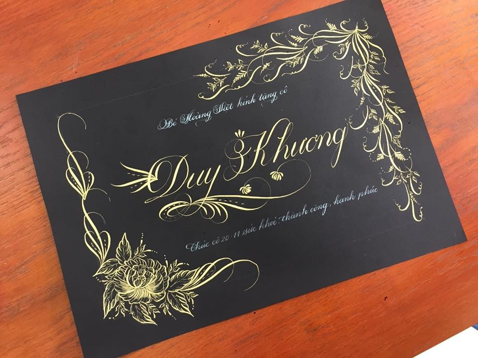 chu nghe thuat 6 - Mẫu chữ cách điệu, chữ hoa sáng tạo, chữ nghệ thuật trong luyện chữ đẹp