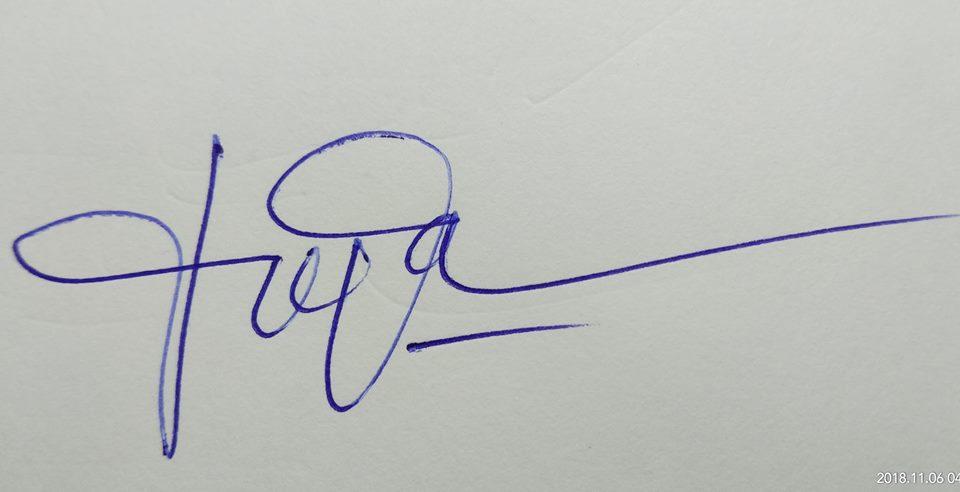 cach ky ten bang tay 2 - Mách bạn cách ký tên bằng tay đẹp không đụng hàng