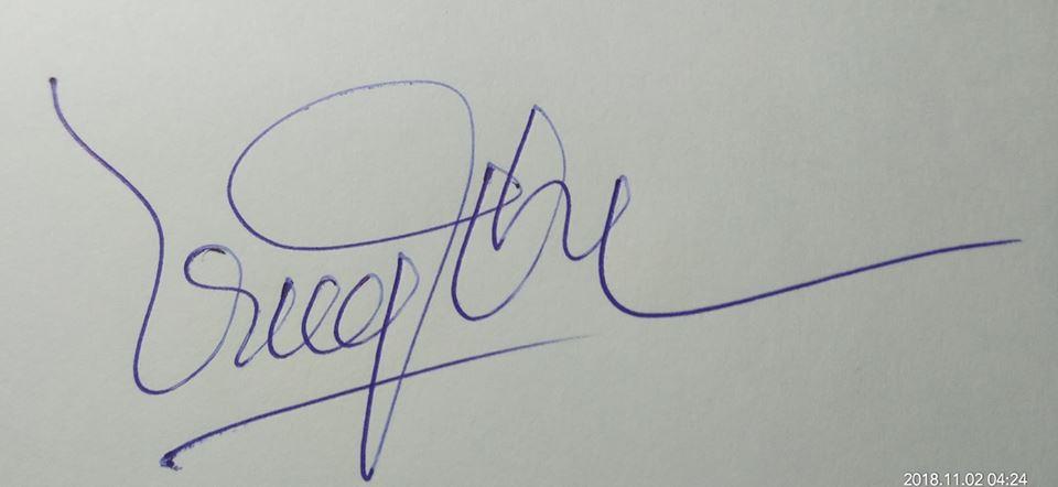 cách ký tên bằng tay